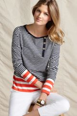 Tommy Hilfiger Ellen Long Sleeve Striped Colorblock Crewneck - Lyst