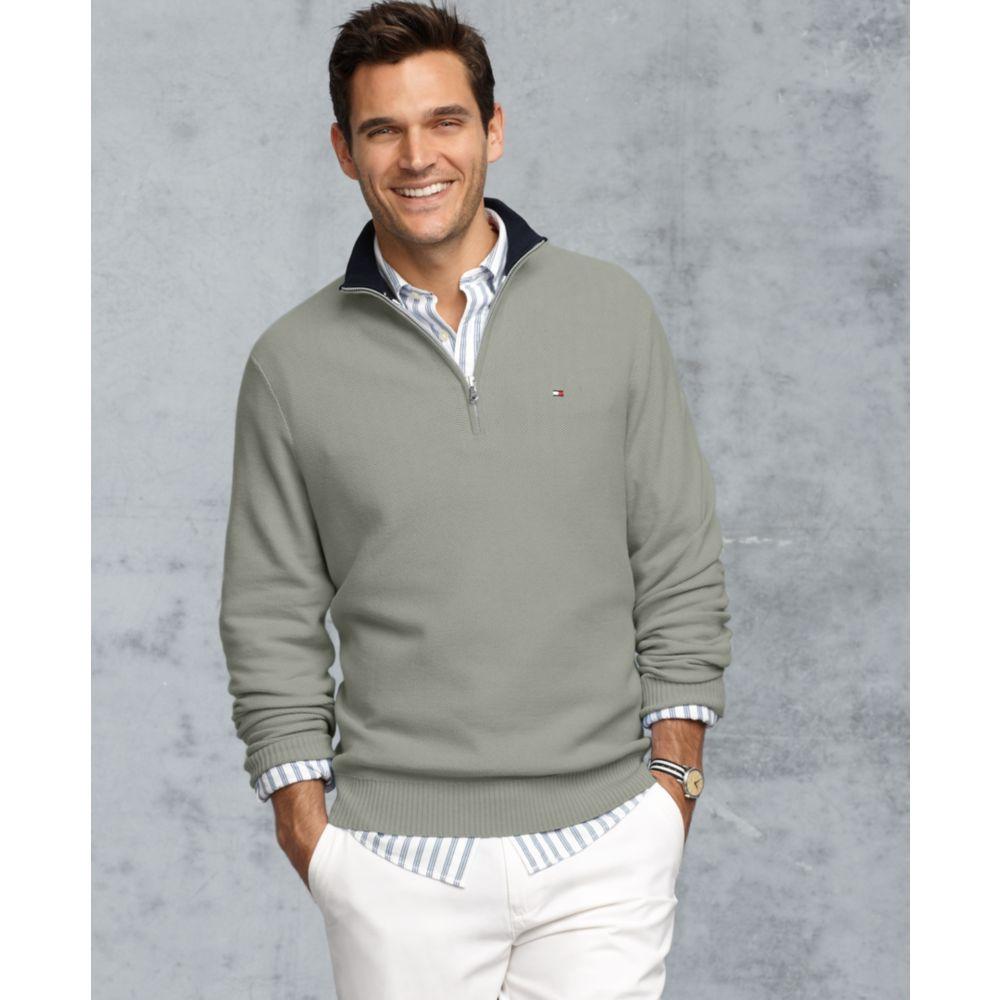 c3d9d57ffb061 Lyst - Tommy Hilfiger Harris Half Zip in Gray for Men