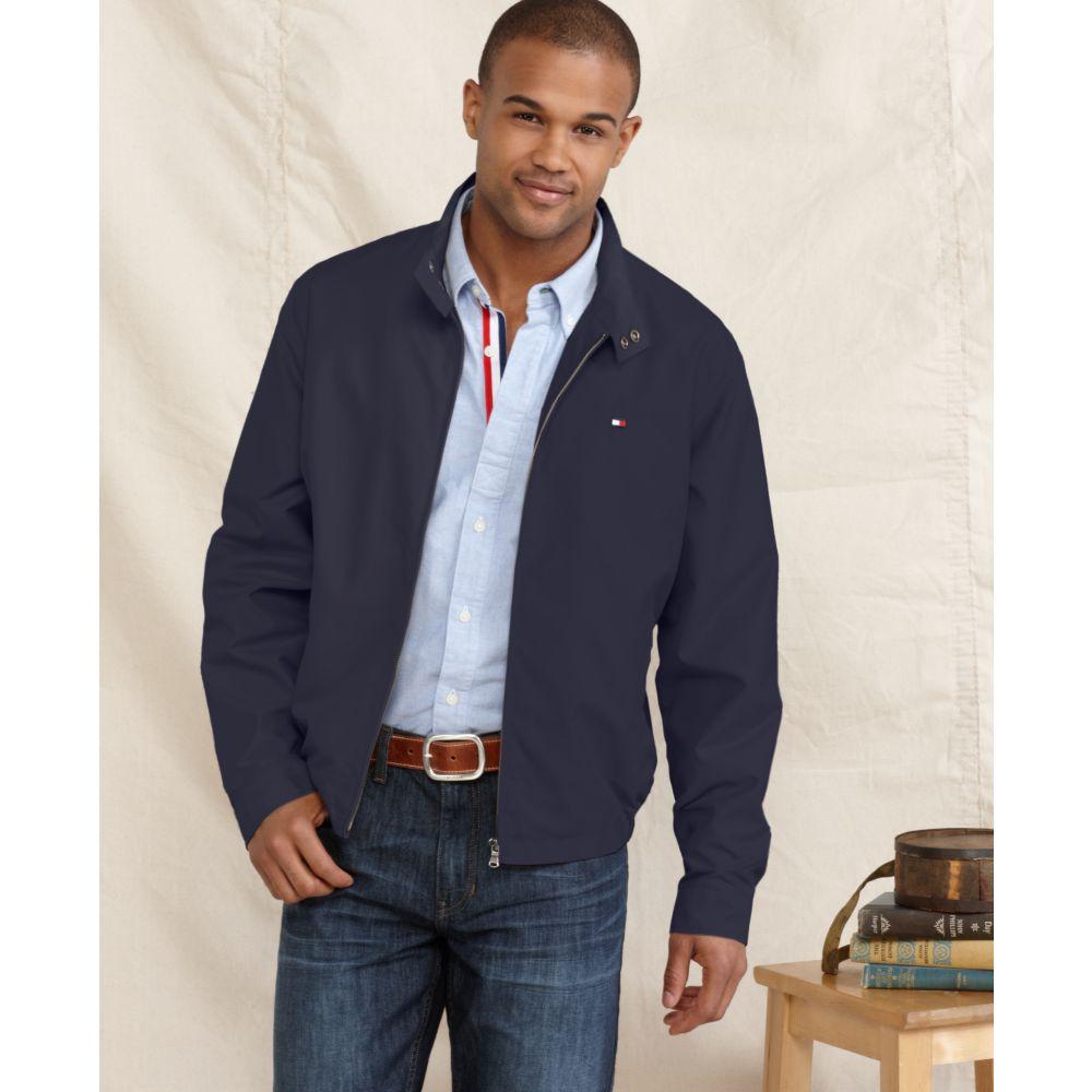 18654795 Tommy Hilfiger Golf Jacket in Blue for Men - Lyst