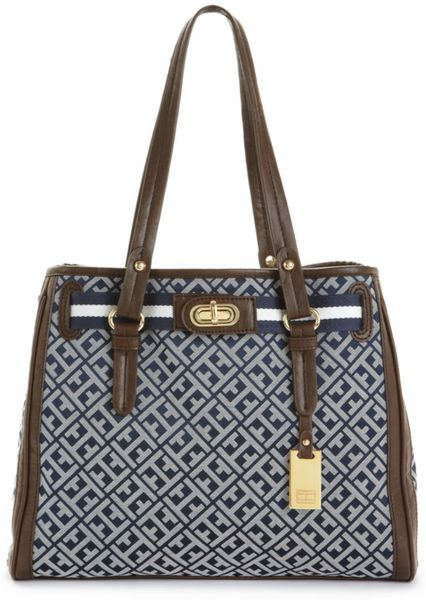 Tommy Hilfiger Jacquard Heritage Flag Tag Bag in Blue (navy/white) - Lyst