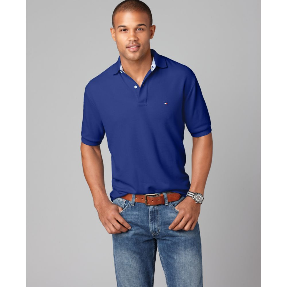 5e9862a6 Tommy Hilfiger Slim Fit Ivy Polo Shirt in Blue for Men - Lyst