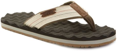 Tommy Hilfiger John Thong Sandals in Brown for Men (pristine/dusky green/brown) - Lyst