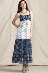 Tommy Hilfiger Sleeveless Printed Cotton Maxi - Lyst