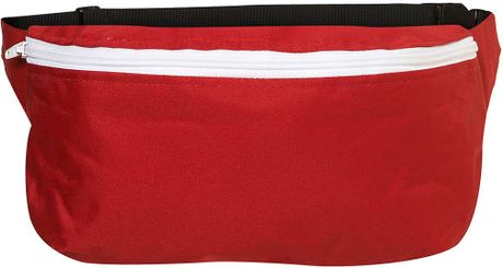 Topman Red and White Bum Bag in Red for Men - Lyst