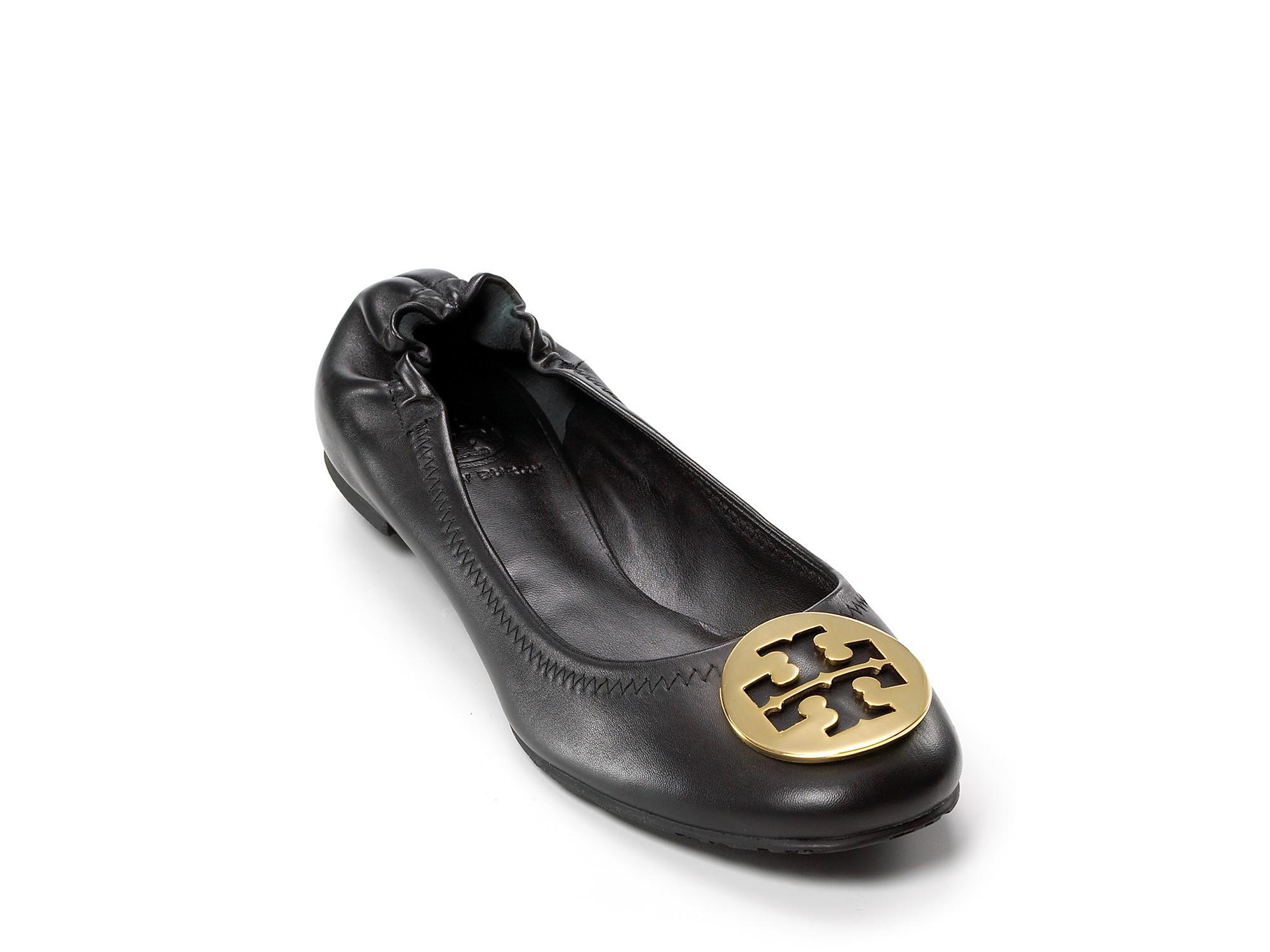 fb4bec3e5d45dd Lyst - Tory Burch Flats Reva Ballet in Black