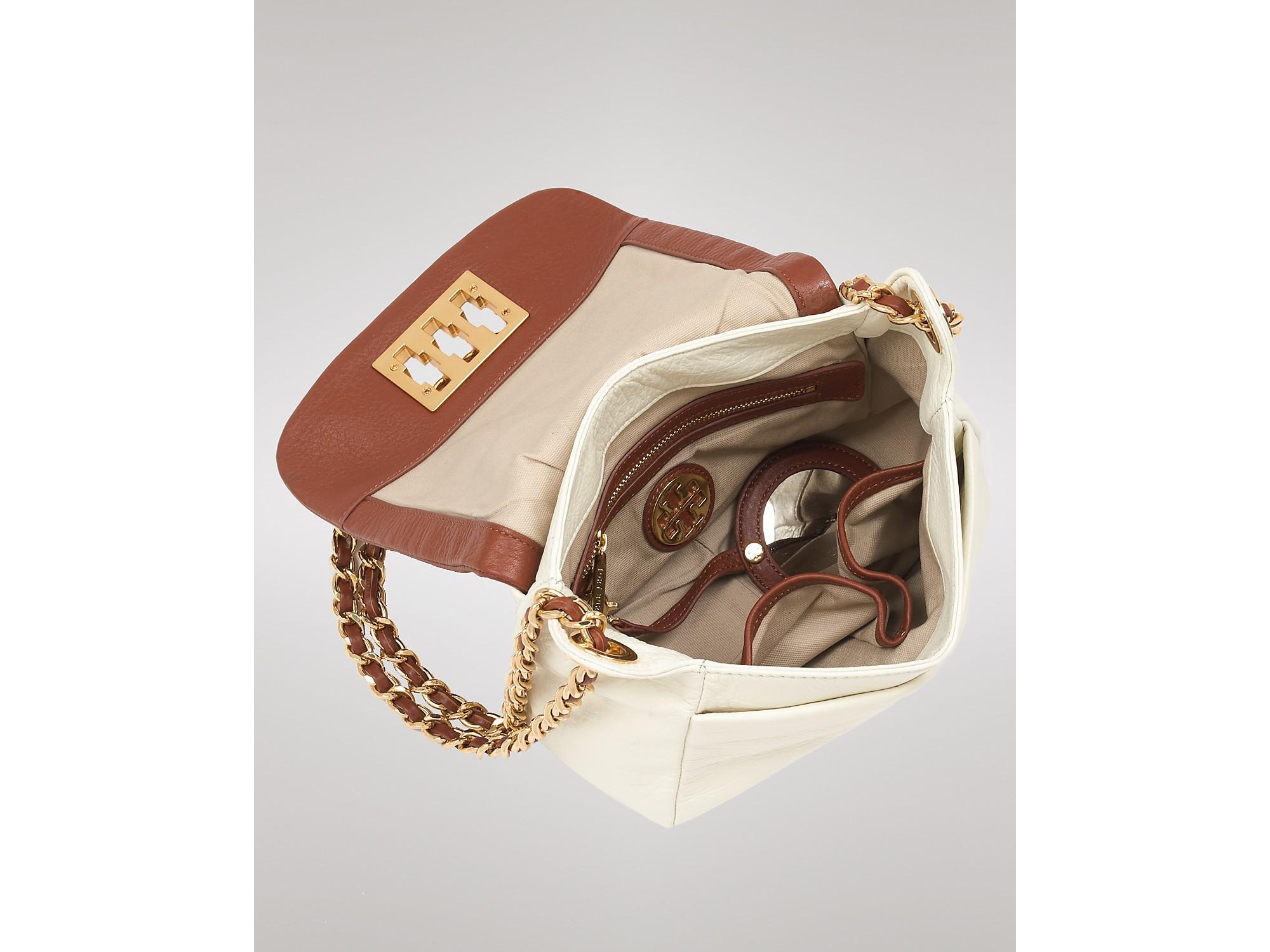 70adf94e67b8 Lyst - Tory Burch Shoulder Bag Eleri Mini in Brown