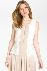 Vince Camuto Pleat Front Blouse - Lyst