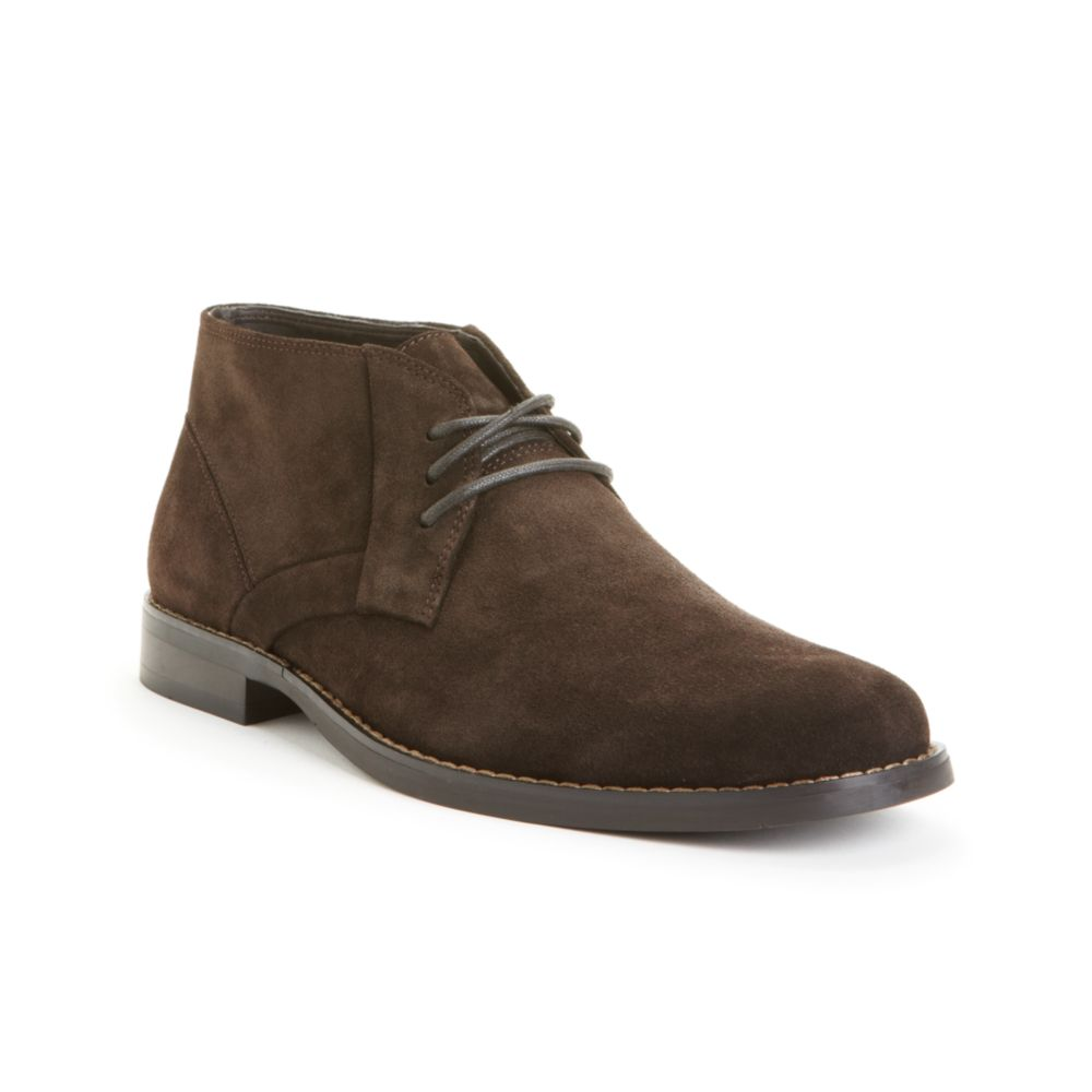 calvin klein chukka boots in brown for brown