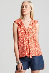 Marc By Marc Jacobs Top Ando Flower in Orange (faded bamboo multi) - Lyst