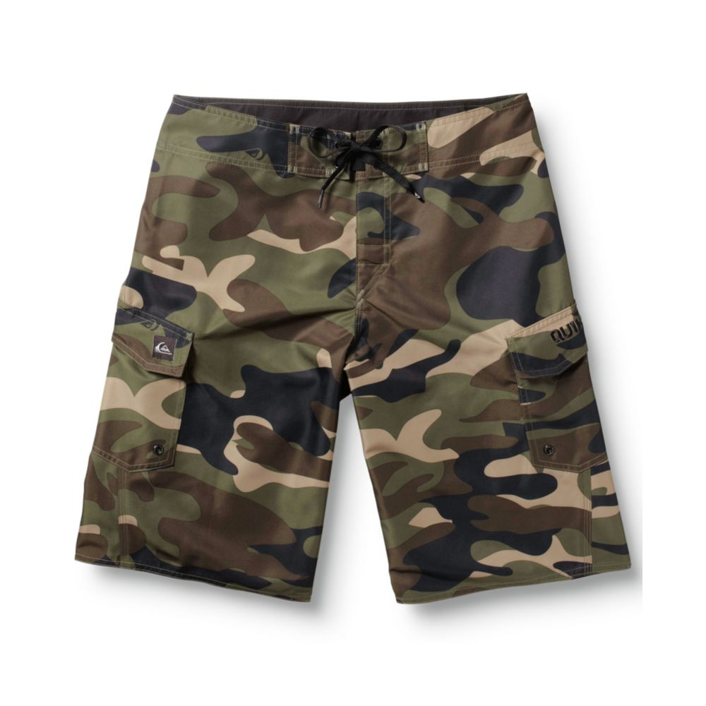 Lyst Quiksilver Manic Camo Board Shorts In Green For Men