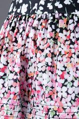 Red Valentino Floral Skirt in Black (floral) - Lyst