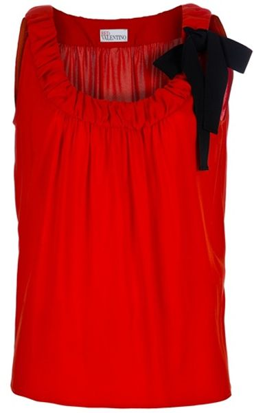 Red Valentino Sleeveless Top in Red (orange) - Lyst