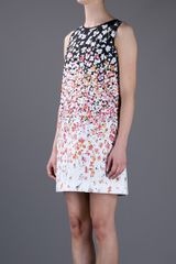 Red Valentino Sleeveless Dress in Multicolor (white) - Lyst