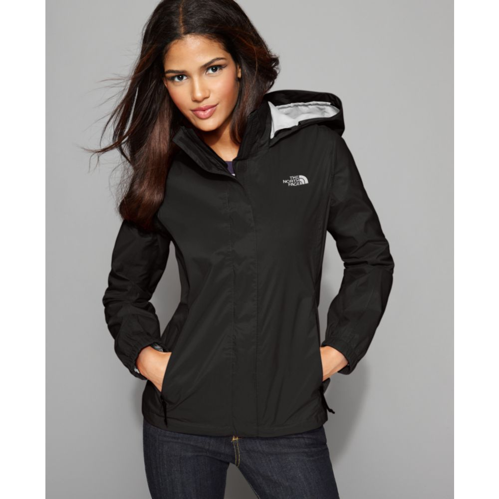 283772ce80c0e Lyst - The North Face Resolve Lightweight Zip Up Rain Jacket in Black