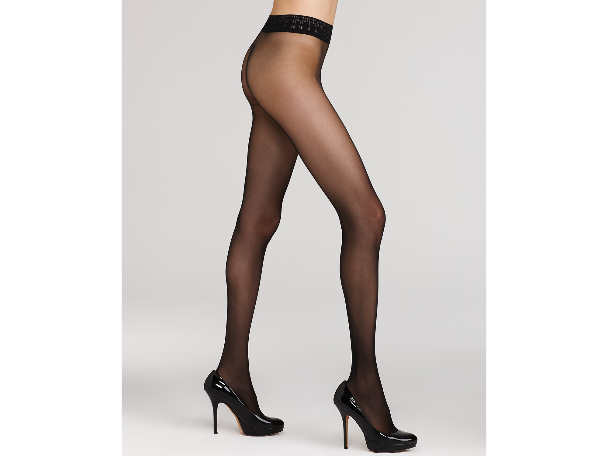 a24b1d00877 Wolford Seamless Tights Fatal 15 in Black - Lyst