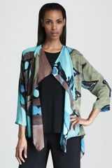 Caroline Rose Silk Printed Jacket - Lyst