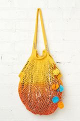 Free People Shimmering Beach Bag in Yellow - Lyst