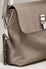 Marc Jacobs Paradise Baxter Shoulder Bag in Gray (black w  silver) - Lyst