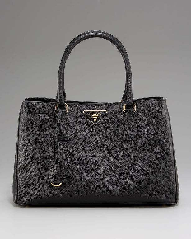 saffiano leather double zip executive tote