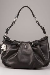 Prada Soft Calfskin Shoulder Bag - Lyst