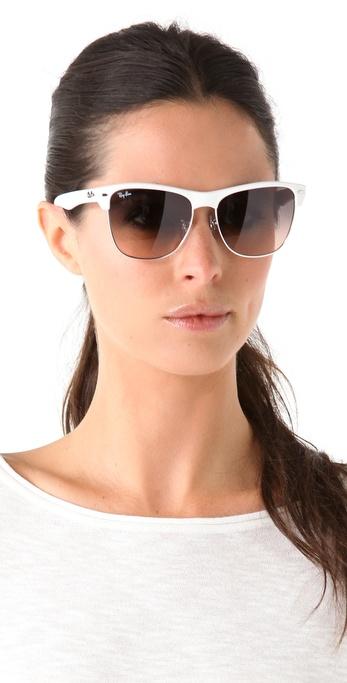6b3bb50388cd Ray-Ban Highstreet Sunglasses in White - Lyst
