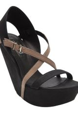 Vic Matie' Leather Wedge - Lyst