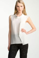 3.1 Phillip Lim Embroidered Neck Top - Lyst