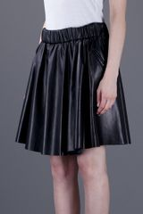 Acne Romantic Leather Skirt in Black - Lyst