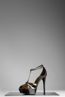 Burberry Bridle Leather Platform Sandals - Lyst