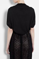 Dkny Black Silk Cashmere Shrug in Black - Lyst