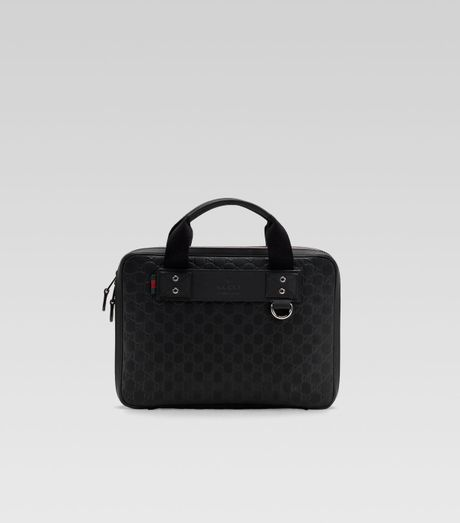 Gucci Techno Guccisima Computer Case in Black for Men - Lyst