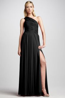 Halston Heritage One-shoulder Gown Black - Lyst