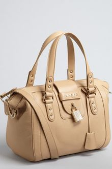 Jimmy Choo Nude Leather Gaia Convertible Top Handle Satchel - Lyst