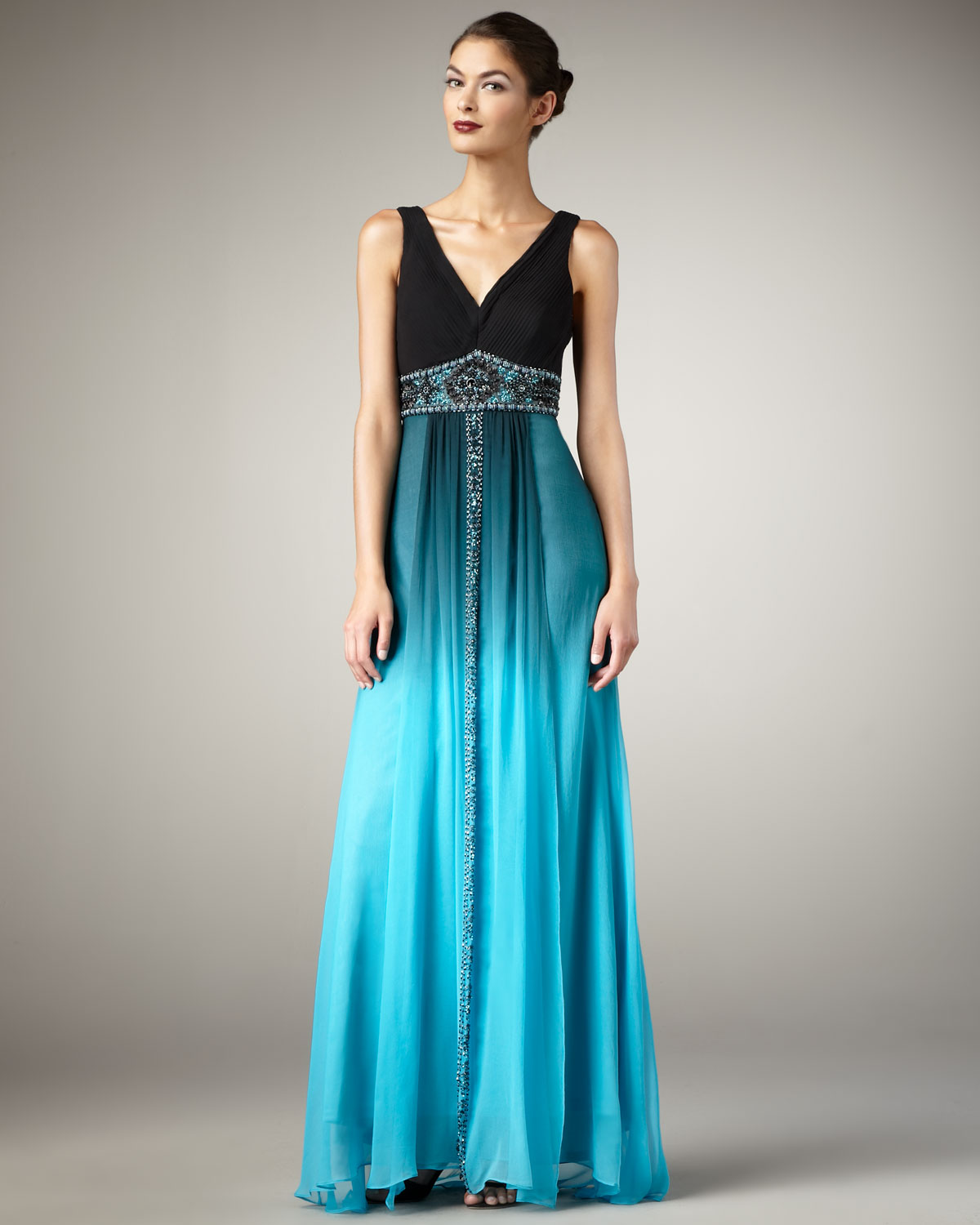 87bd2fd59b Turquoise And Black Dress - Dress Foto and Picture