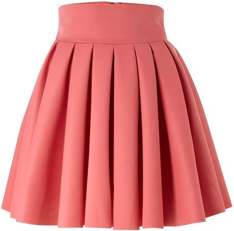 Tfnc Flared Skirt in Pink (coral) | Lyst