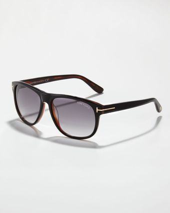 Tom Ford Olivier Plastic Sunglasses Blackhorn - Lyst