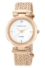 Anne Klein Womens Diamond Accent Rose Gold Tone Four Chain Bracelet 34mm 10 - Lyst