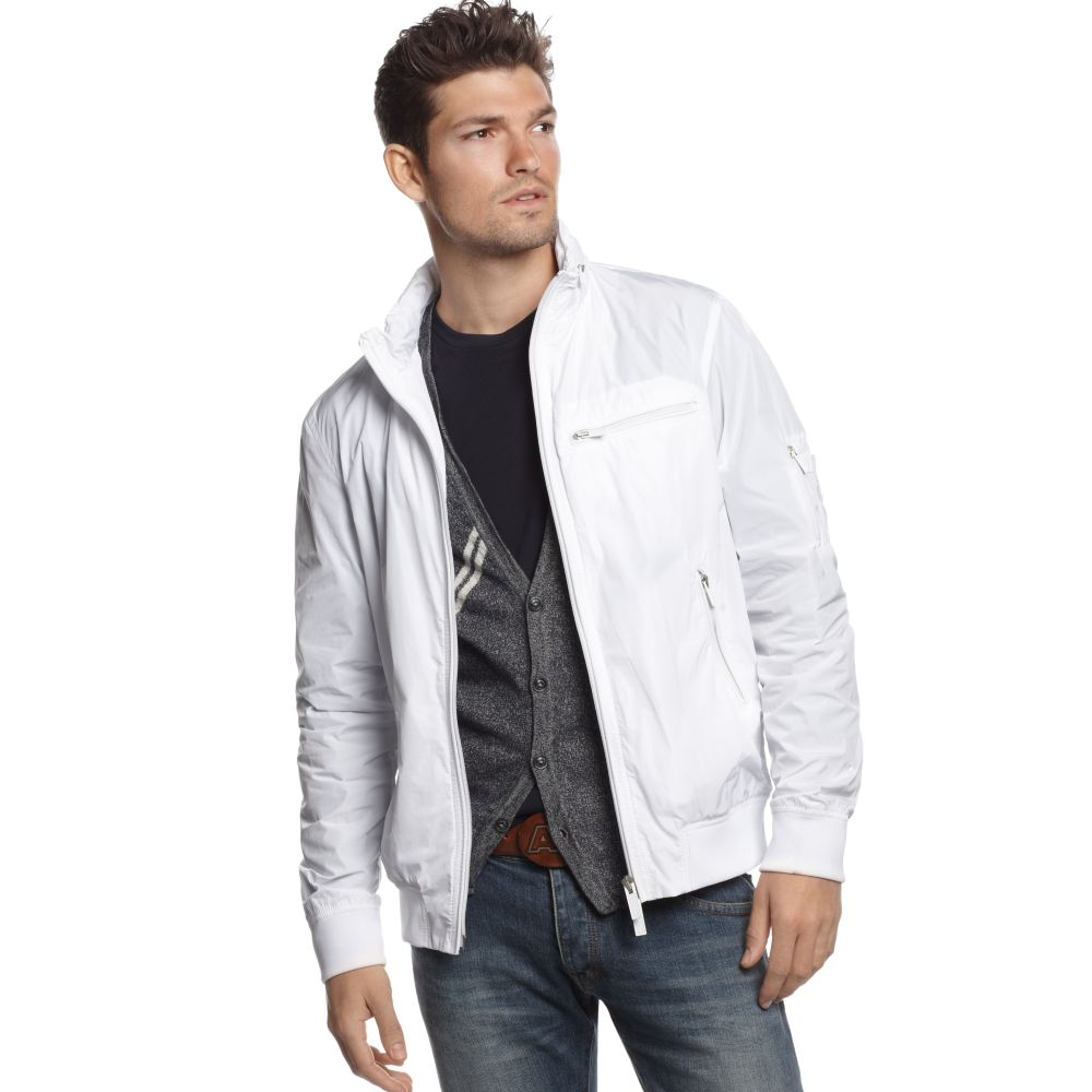 aa1cc51fa25c21 Lyst - Armani Jeans Windbreaker Jacket in Natural for Men