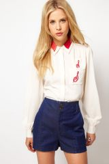 ASOS Collection Diner Shirt with Embroidery - Lyst
