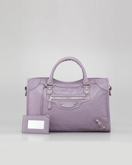 Balenciaga Giant 12 Nickel City Bag Glycine in Purple (glycine) - Lyst