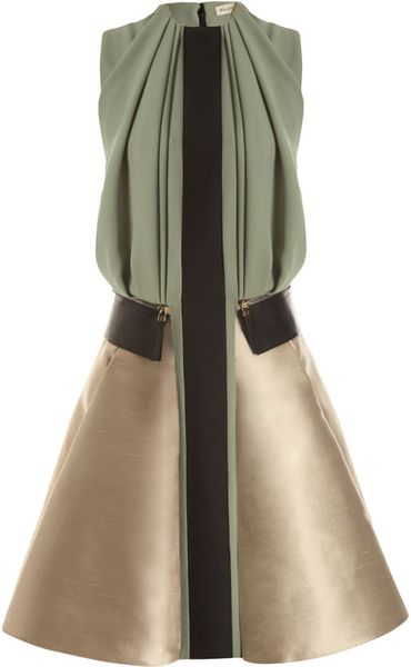 Balenciaga Full Dress in Multicolor (sage) - Lyst