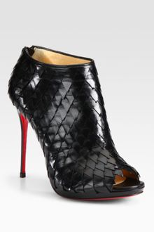 Christian Louboutin Leather Platform Ankle Boots - Lyst