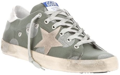 Golden Goose Deluxe Brand Golden Goose G20d121 F3 Cotton in Green - Lyst