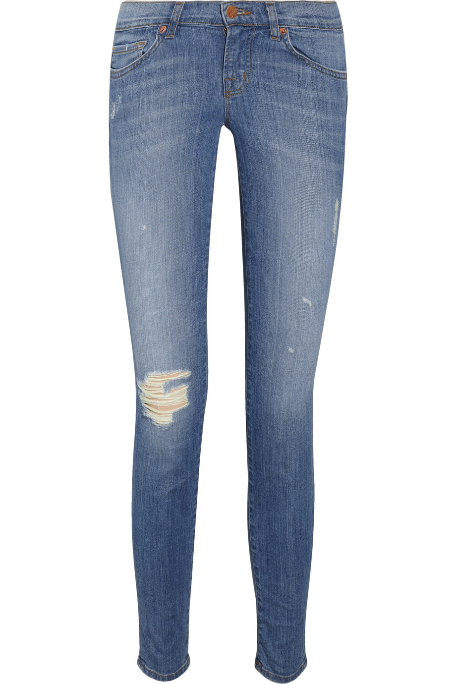 j brand 39 ellis 39 cropped jeans in blue lyst. Black Bedroom Furniture Sets. Home Design Ideas