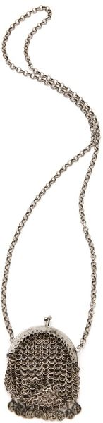 Low Luv X Erin Wasson Chain Mail Bag Necklace in Silver - Lyst