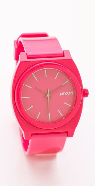 Nixon The Time Teller P Watch in Pink