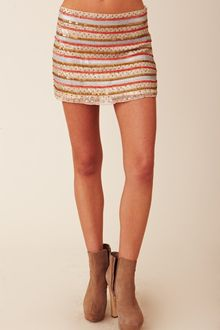 Parker Tribal Beading Skirt - Lyst