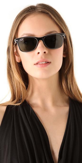 Lyst Ray Ban New Wayfarer Sunglasses In Black