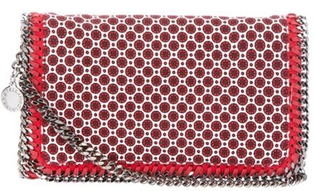 Stella Mccartney Falabella Shoulder Bag in Red - Lyst