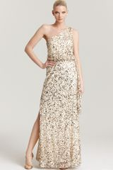Aidan Mattox Sequin Gown One Shoulder - Lyst